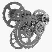 Mecanismo de mecanismo de cromo modelo 3d
