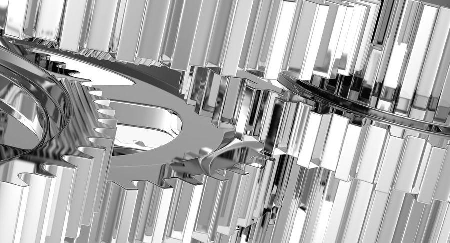 Chrome Uhrwerk royalty-free 3d model - Preview no. 18