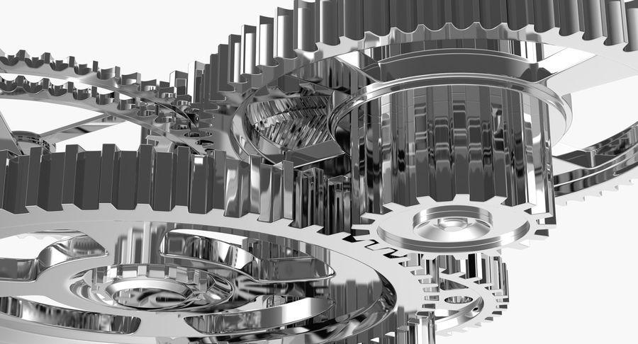 Chrome Uhrwerk royalty-free 3d model - Preview no. 12