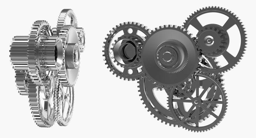Chrome Uhrwerk royalty-free 3d model - Preview no. 4