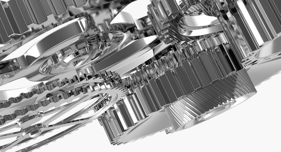 Chrome Uhrwerk royalty-free 3d model - Preview no. 16