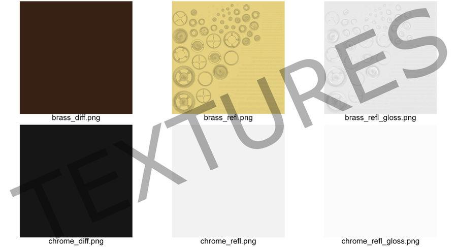 Chrome Uhrwerk royalty-free 3d model - Preview no. 22