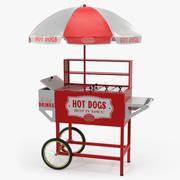 Горячая Собака Торговая Корзина 3D Модель 3d model