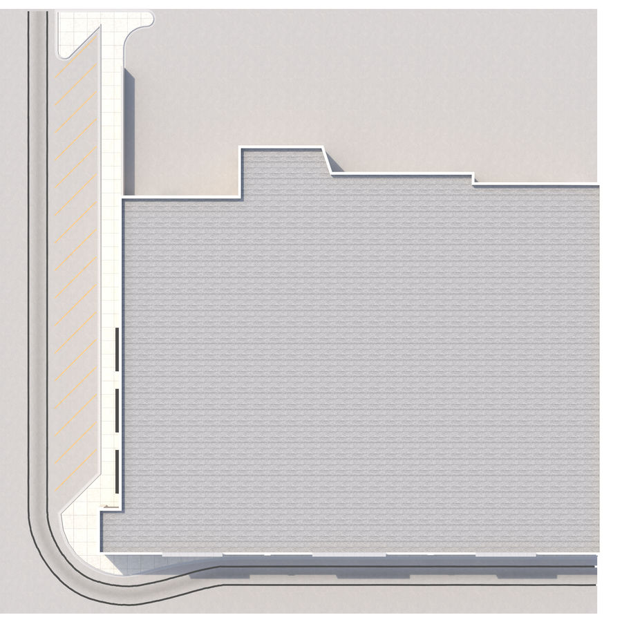 Retail-036 Retail Mall Building royalty-free 3d model - Preview no. 15