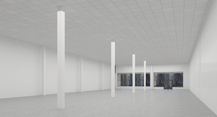 Retail-036 Retail Mall Building royalty-free 3d model - Preview no. 10