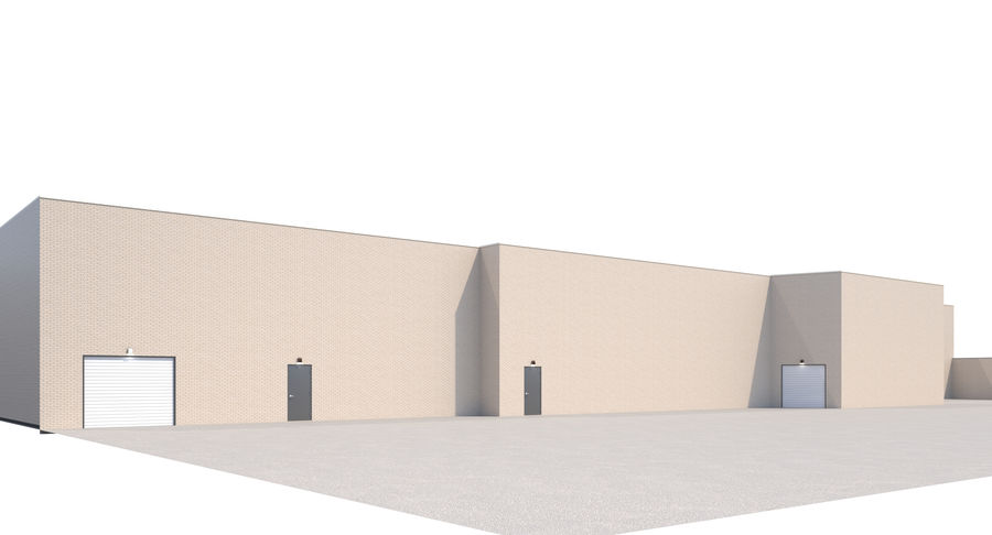 Retail-036 Retail Mall Building royalty-free 3d model - Preview no. 3