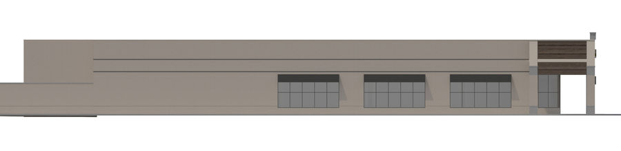 Retail-036 Retail Mall Building royalty-free 3d model - Preview no. 14