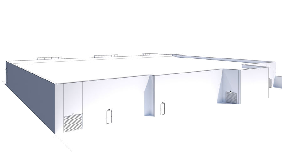 Retail-036 Retail Mall Building royalty-free 3d model - Preview no. 18