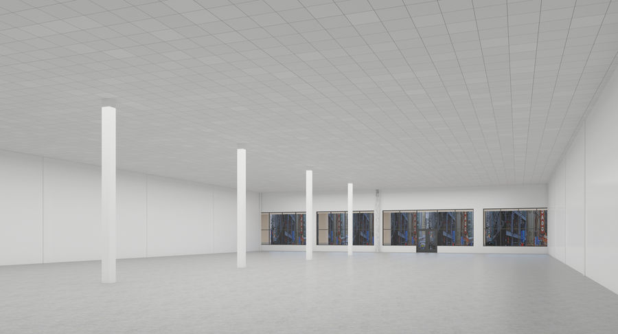 Retail-036 Retail Mall Building royalty-free 3d model - Preview no. 9