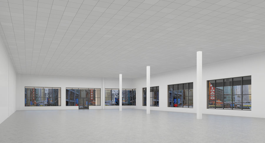 Retail-036 Retail Mall Building royalty-free 3d model - Preview no. 8