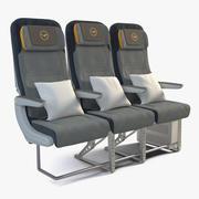 汉莎航空经济舱 3d model