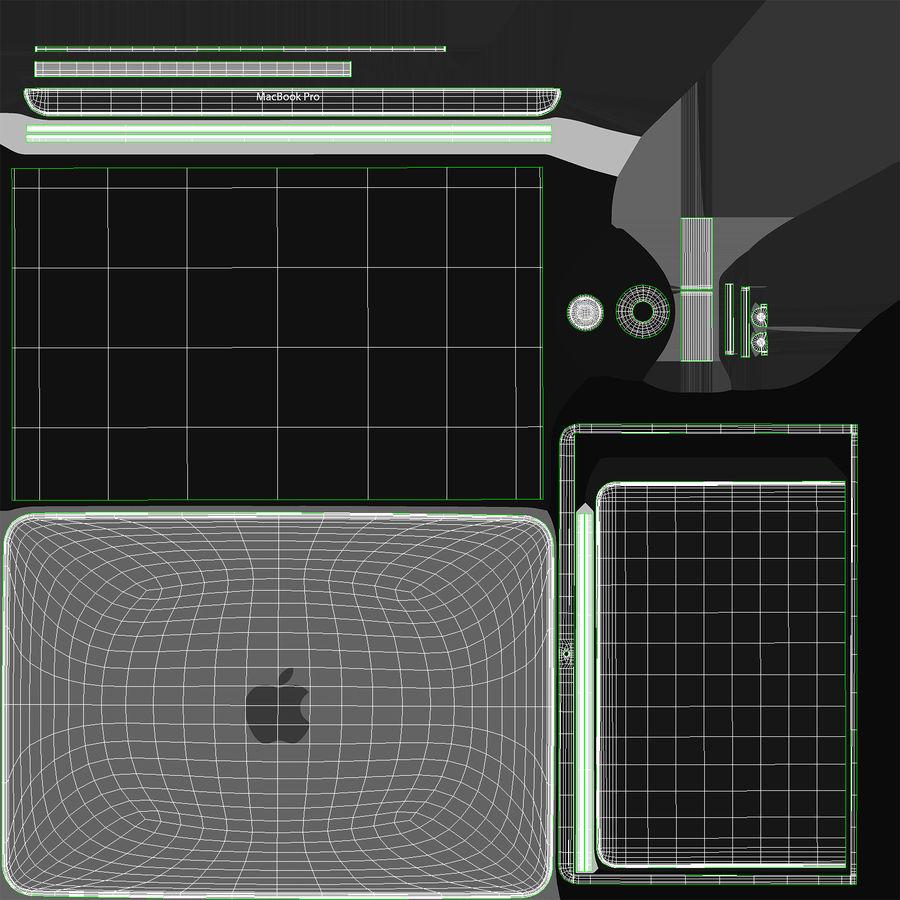 Apple Macbook Pro已关闭 royalty-free 3d model - Preview no. 19
