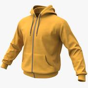 Hoodie 02 Yellow + PBR 3d model