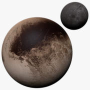 Pluto & Charon Photorealistic 8K 3d model