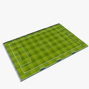 Boisko do piłki nożnej z piłką nożną 3d model