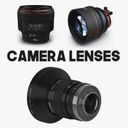 Camera Lenses 3D Models Collection 3d model