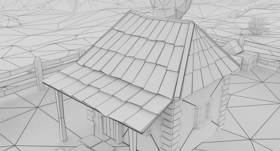 Cartoon Mountain Landscape Scene royalty-free 3d model - Preview no. 18