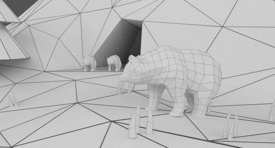 Cartoon Mountain Landscape Scene royalty-free 3d model - Preview no. 21