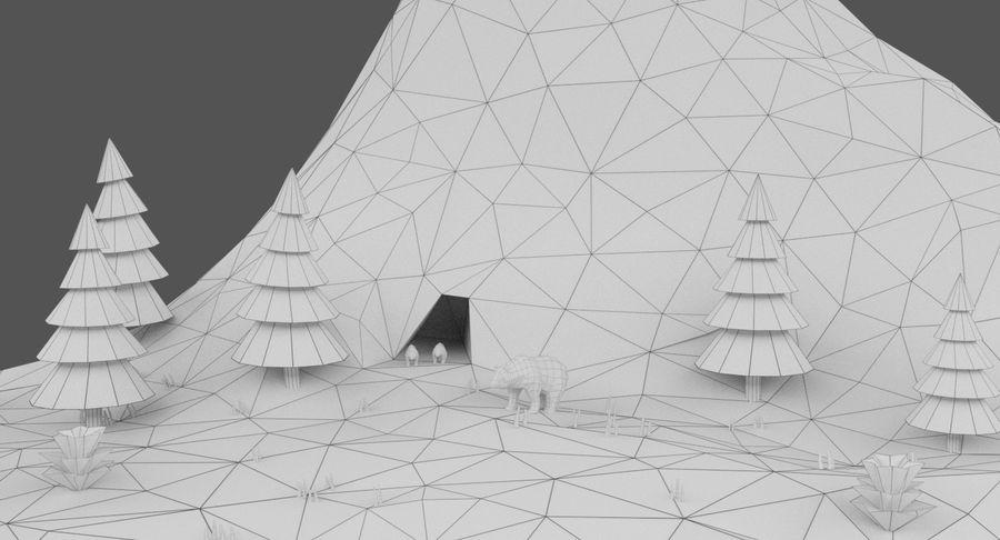 Cartoon Mountain Landscape Scene royalty-free 3d model - Preview no. 20