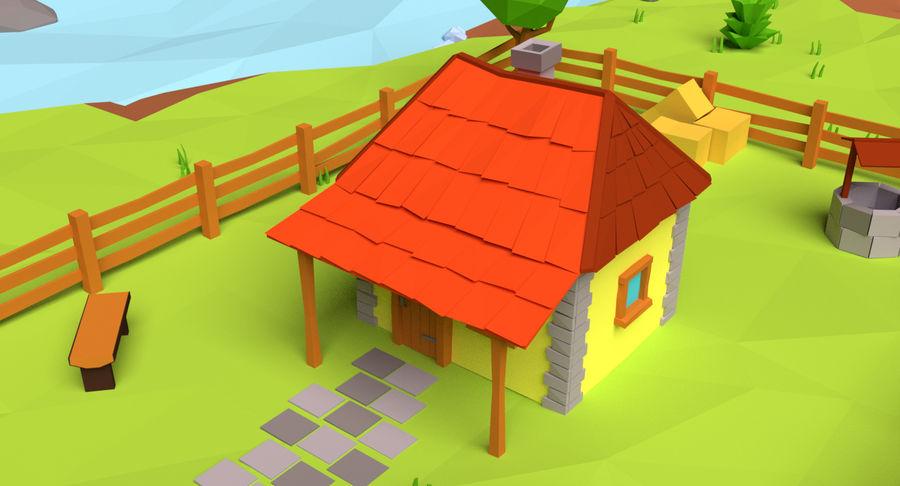 Cartoon Mountain Landscape Scene royalty-free 3d model - Preview no. 6