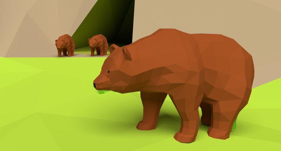 Cartoon Mountain Landscape Scene royalty-free 3d model - Preview no. 10