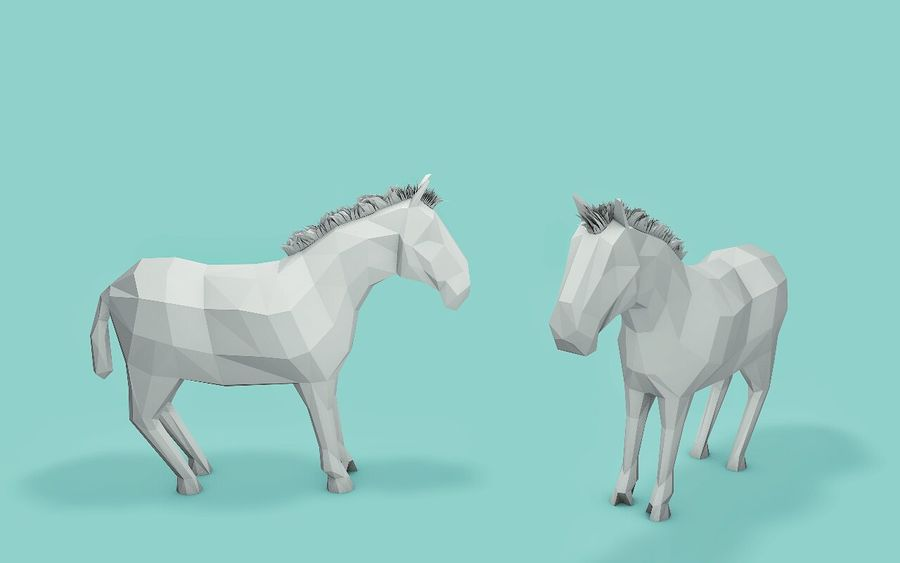 Low Poly Animals (Africa Edition) royalty-free 3d model - Preview no. 3