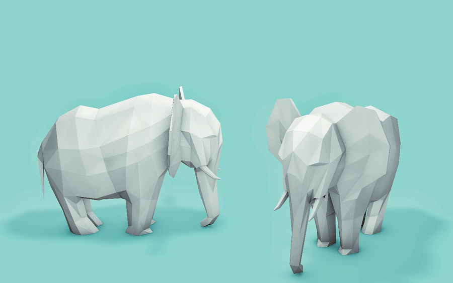 Low Poly Animals (Africa Edition) royalty-free 3d model - Preview no. 4