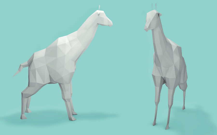 Low Poly Animals (Africa Edition) royalty-free 3d model - Preview no. 5