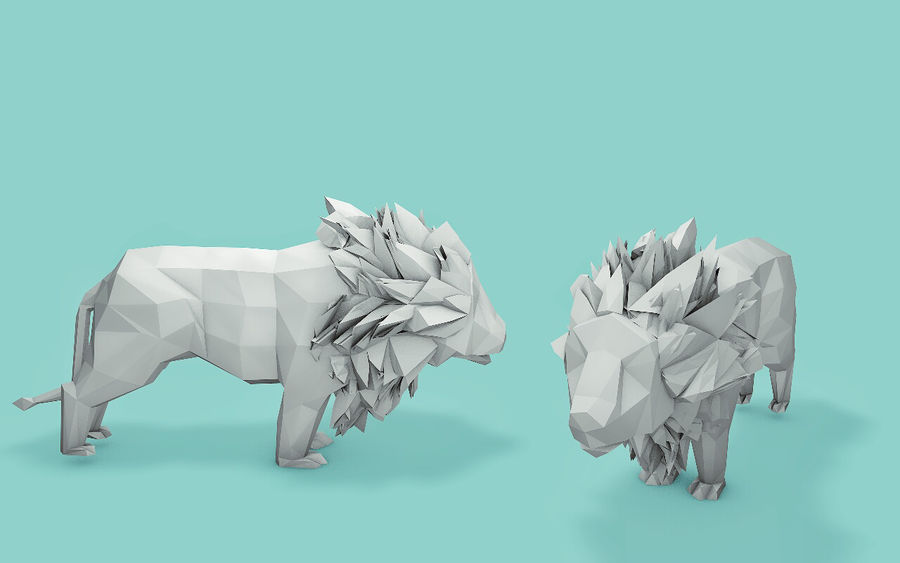 Low Poly Animals (Africa Edition) royalty-free 3d model - Preview no. 8