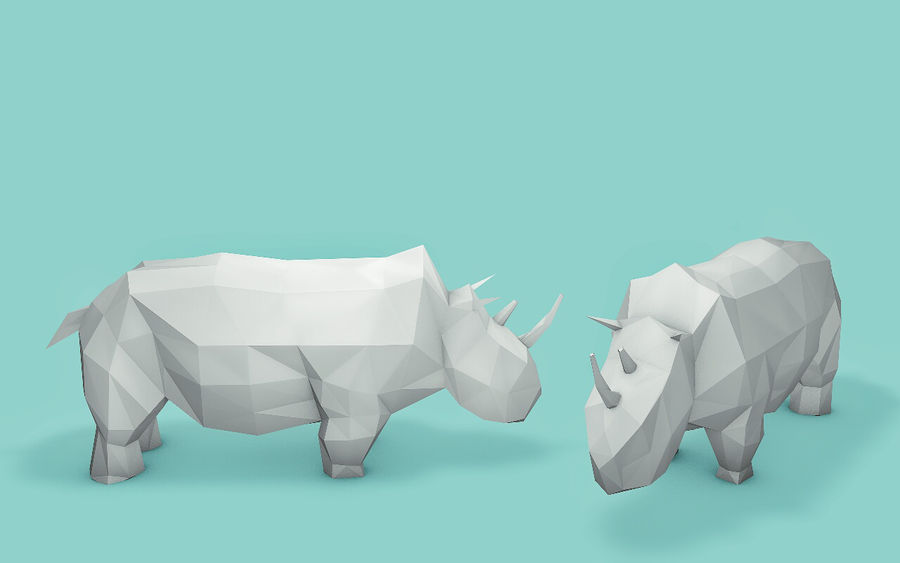 Low Poly Animals (Africa Edition) royalty-free 3d model - Preview no. 10