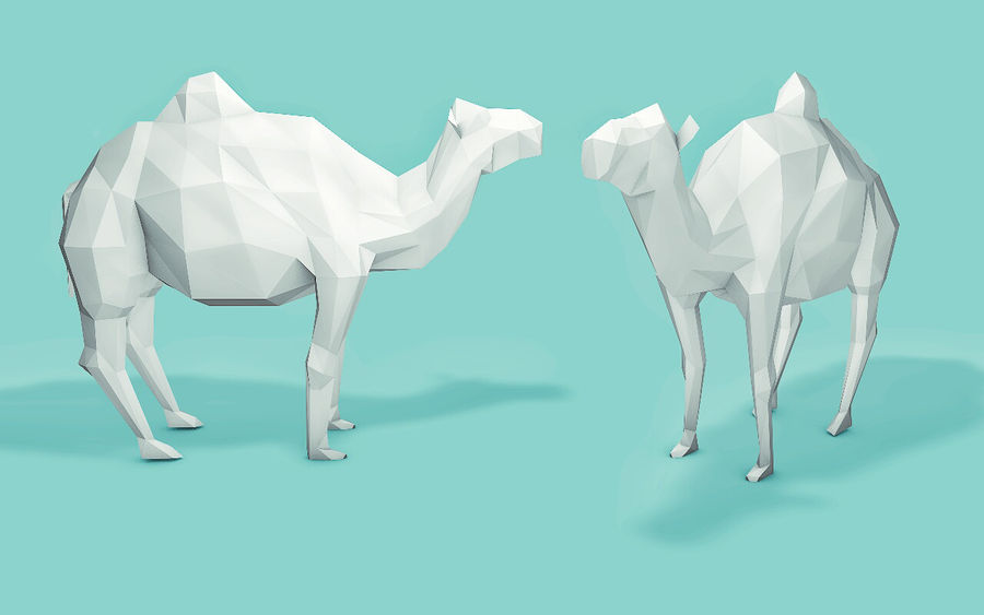 Low Poly Animals (Africa Edition) royalty-free 3d model - Preview no. 2