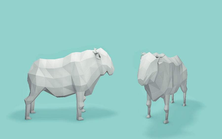 Low Poly Animals (Africa Edition) royalty-free 3d model - Preview no. 11