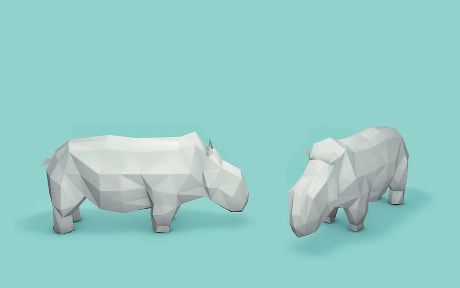 Low Poly Animals (Africa Edition) royalty-free 3d model - Preview no. 6
