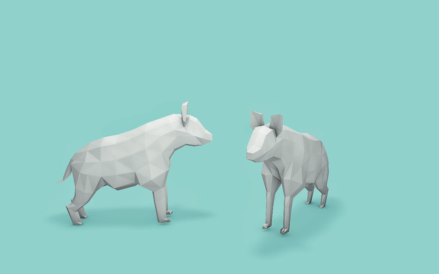 Low Poly Animals (Africa Edition) royalty-free 3d model - Preview no. 7