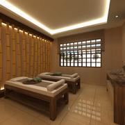 Spa Beauty Saloon Massage Bed Scene 2 3d model