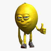 Personagem de desenho animado de limão fraudada 3d model