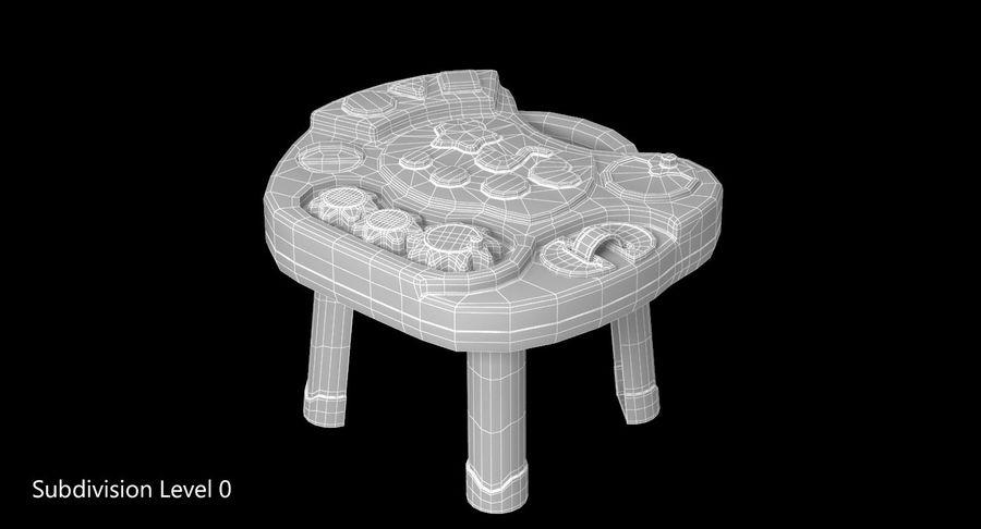 インタラクティブな子供用テーブル royalty-free 3d model - Preview no. 9