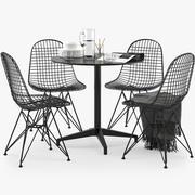 Krzesło DKR Bistro Stolik z drutu Vitra 3d model