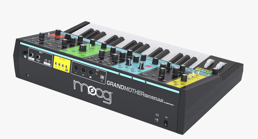 Moog Grandmother Synthesizer royalty-free 3d model - Preview no. 4