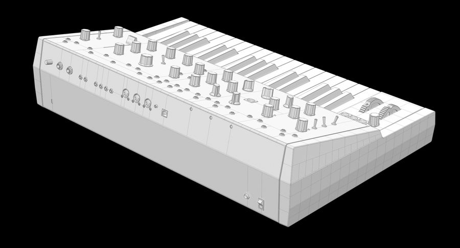 Moog Grandmother Synthesizer royalty-free 3d model - Preview no. 9