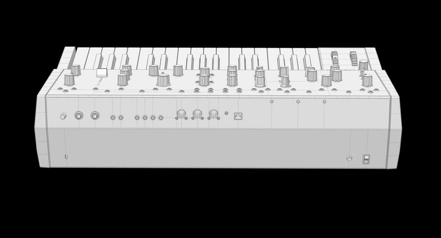 Moog Grandmother Synthesizer royalty-free 3d model - Preview no. 10