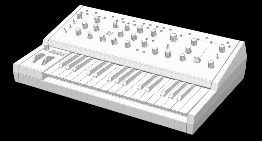 Moog Grandmother Synthesizer royalty-free 3d model - Preview no. 12