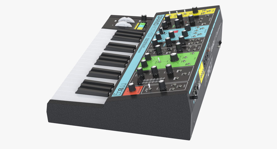 Moog Grandmother Synthesizer royalty-free 3d model - Preview no. 5