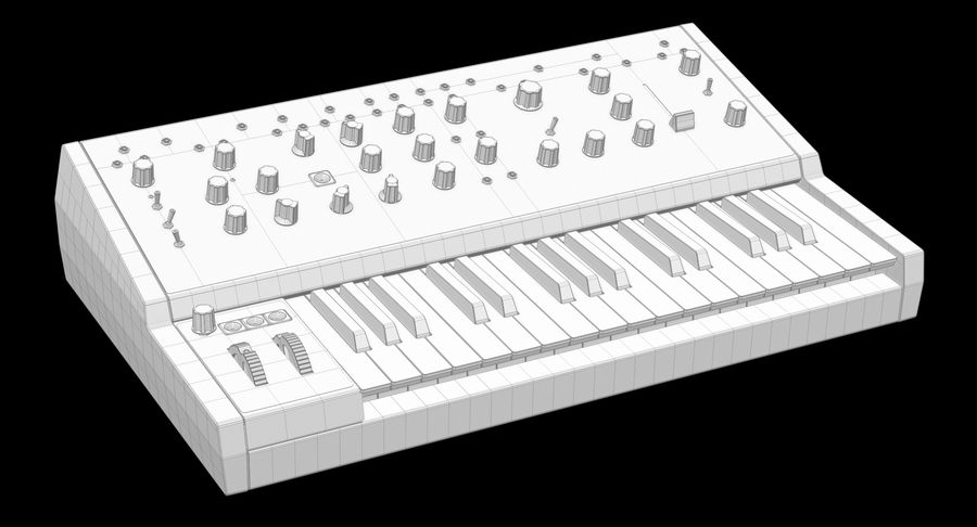 Moog Grandmother Synthesizer royalty-free 3d model - Preview no. 8