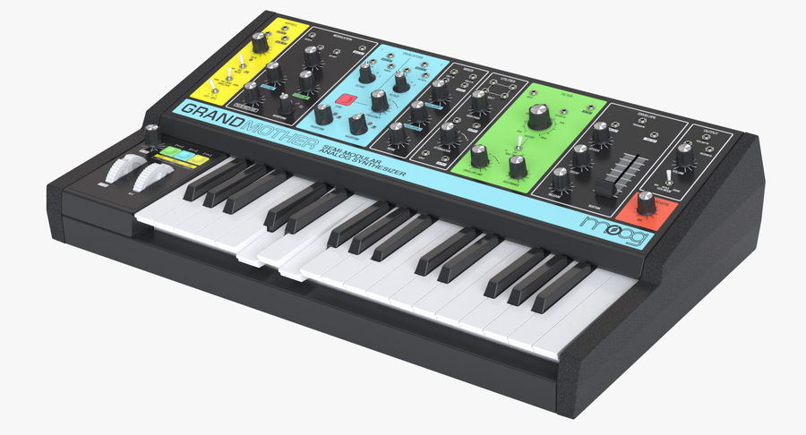 Moog Grandmother Synthesizer royalty-free 3d model - Preview no. 6