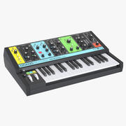 Moog grootmoeder synthesizer 3d model