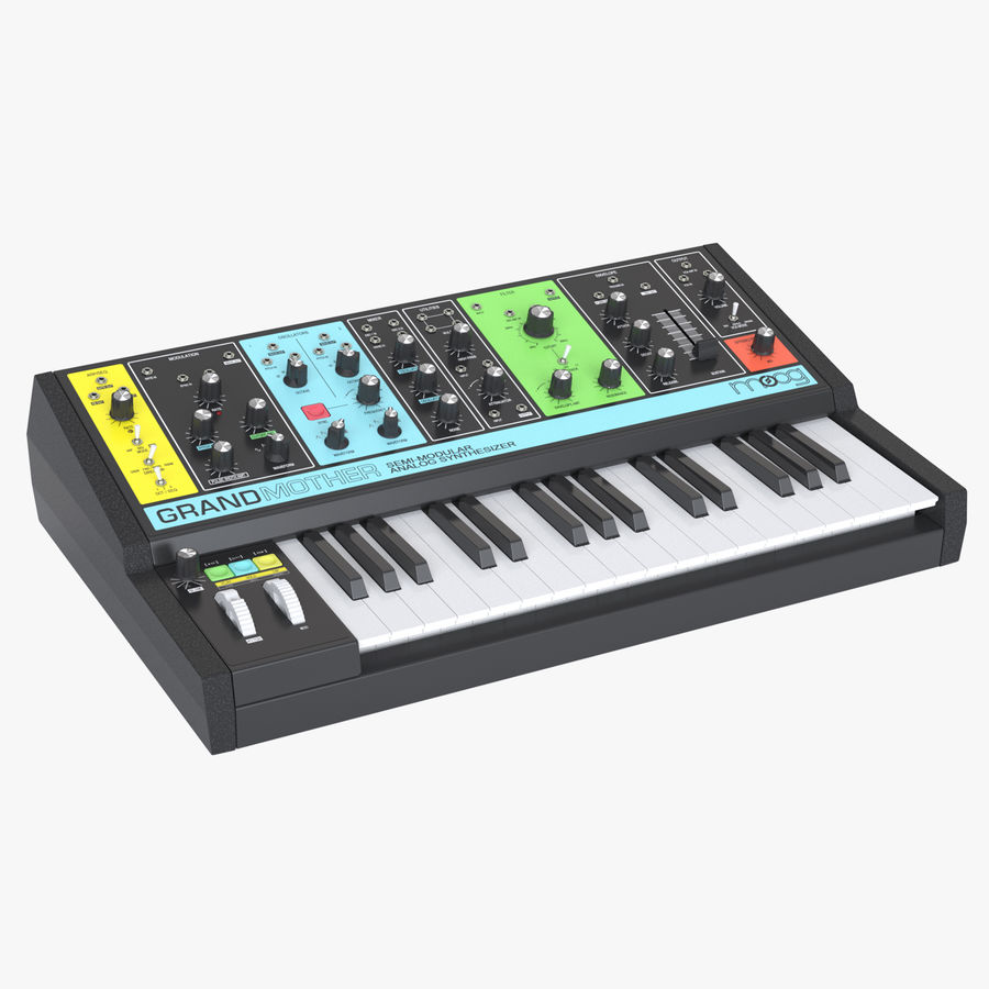 Moog Grandmother Synthesizer royalty-free 3d model - Preview no. 1