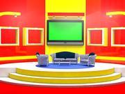Talkshow-Raum 3d 3d model