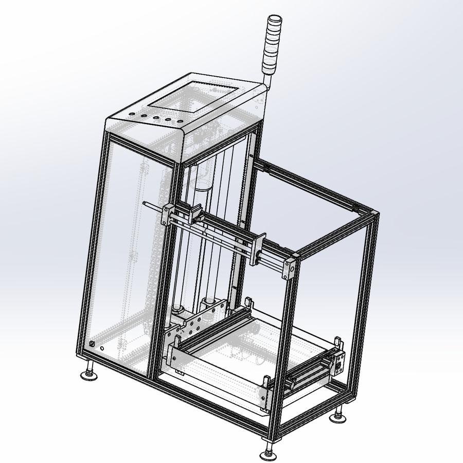 Asansör konveyörü royalty-free 3d model - Preview no. 7