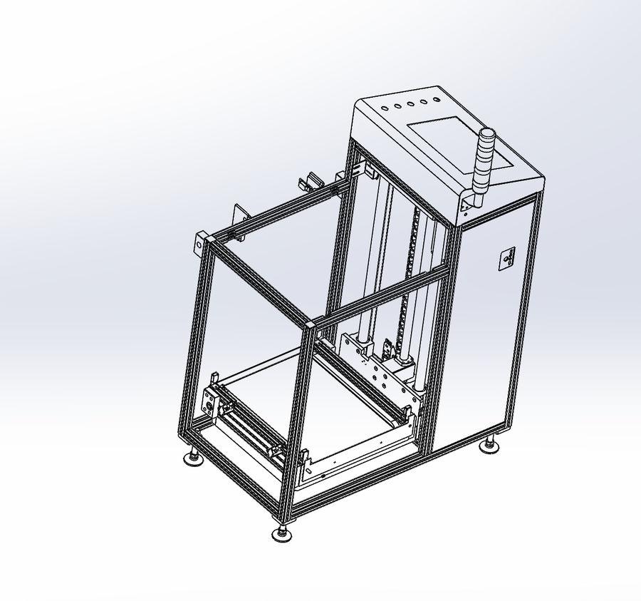 Asansör konveyörü royalty-free 3d model - Preview no. 2
